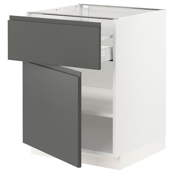 """SEKTION / MAXIMERA Base cabinet with drawer/door, white/Voxtorp dark gray, 24x24x30 """""""