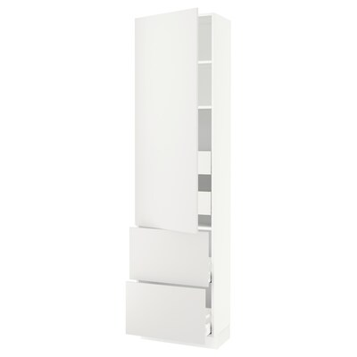 """SEKTION / MAXIMERA High cab w door/2 fronts/4 drawers, white/Häggeby white, 24x15x90 """""""