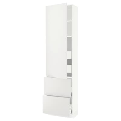 """SEKTION / MAXIMERA high cab w door/2 fronts/4 drawers white/Häggeby white 24 """" 15 """" 15 1/2 """" 90 """""""