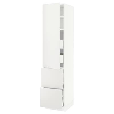 "SEKTION / MAXIMERA high cab w door/2 fronts/4 drawers white/Häggeby white 18 "" 24 "" 24 3/4 "" 80 """