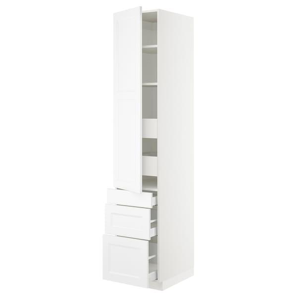 "SEKTION / MAXIMERA High cab w door/3 fronts/5 drawers, white/Axstad matt white, 18x24x90 """