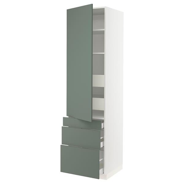 "SEKTION / MAXIMERA High cab w door/3 fronts/5 drawers, white/Bodarp gray-green, 24x24x90 """
