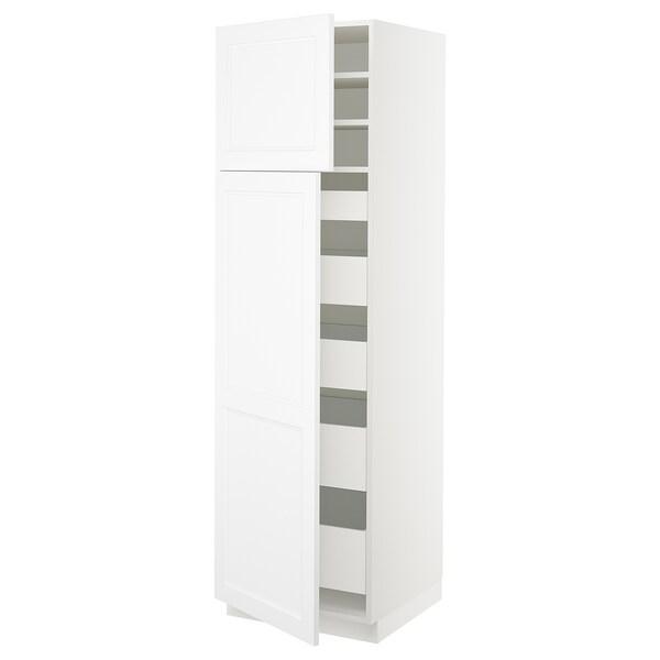 "SEKTION / MAXIMERA high cb w 2 doors/shelves/5 drawers white/Axstad matt white 24 "" 24 "" 24 3/4 "" 80 """