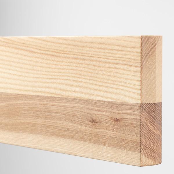 "SEKTION / MAXIMERA Wall cab w 2 glass doors/2 drawers, white/Torhamn ash, 30x15x40 """