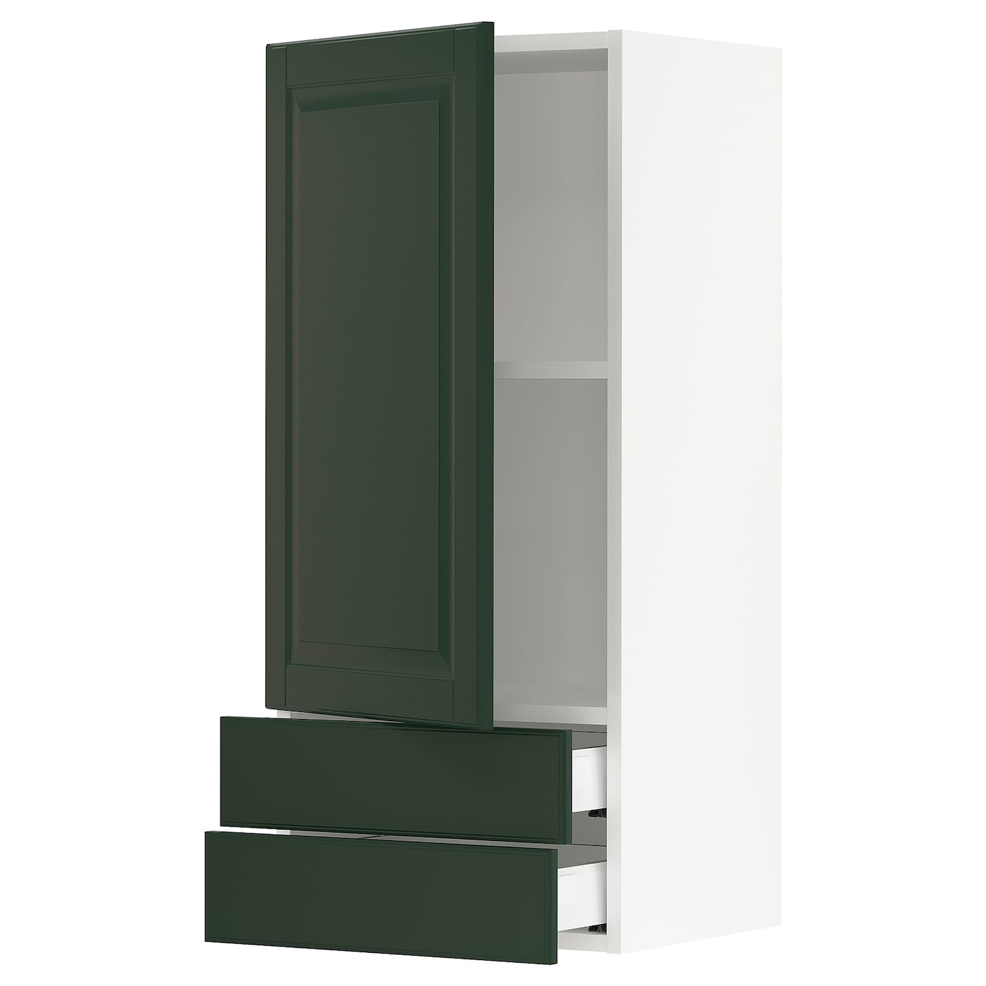 SEKTION / MAXIMERA Wall cabinet with door/2 drawers, white ...