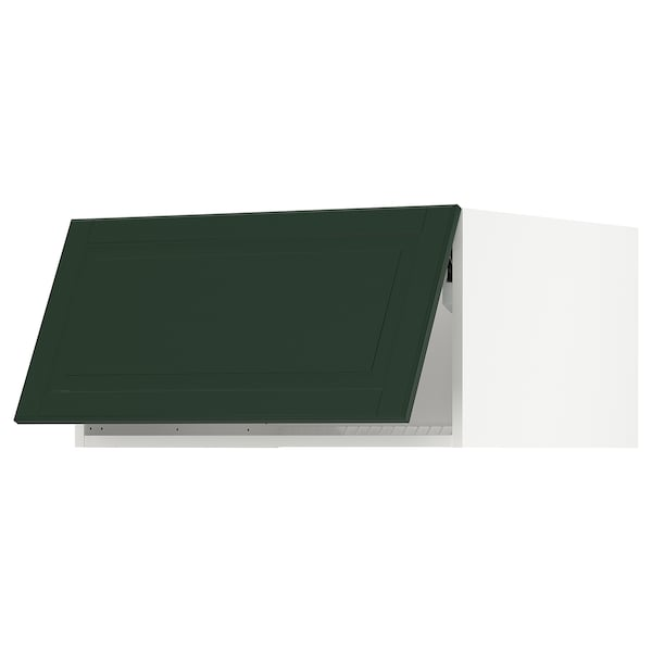 "SEKTION Top cab f fridge/freezer w push-op, white/Bodbyn dark green, 30x24x15 """