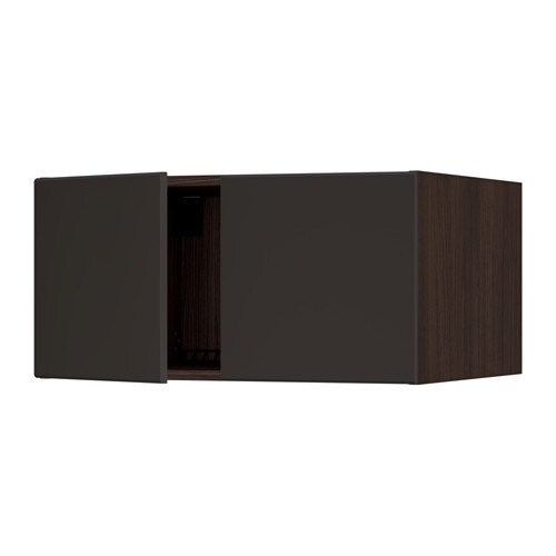 SEKTION Top cabinet for fridge w/2 doors - white, Bodbyn gray, 30x24x15