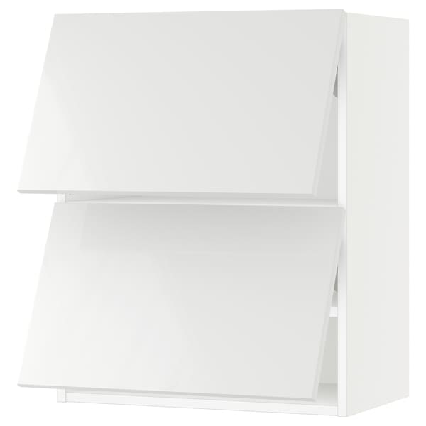 SEKTION Wall cab horizo 2 doors w push-open, white/Ringhult white, 24x15x30 ""