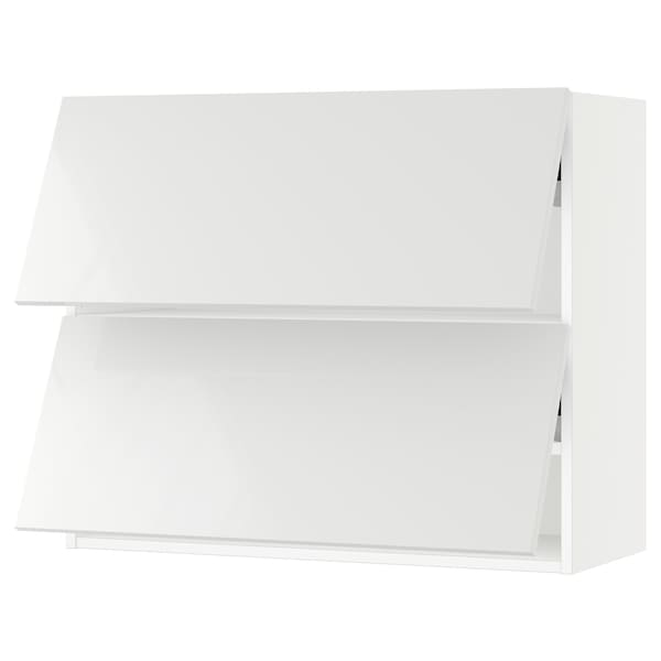 "SEKTION Wall cab horizo 2 doors w push-open, white/Ringhult white, 36x15x30 """