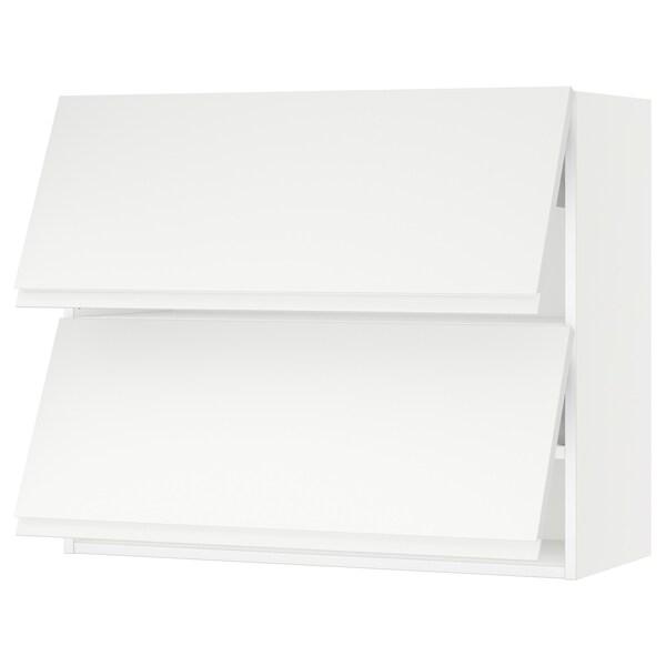 "SEKTION Wall cab horizo 2 doors w push-open, white/Voxtorp matt white, 36x15x30 """