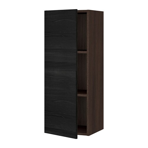 Sektion Wall Cabinet Wood Effect Brown Tingsryd Wood