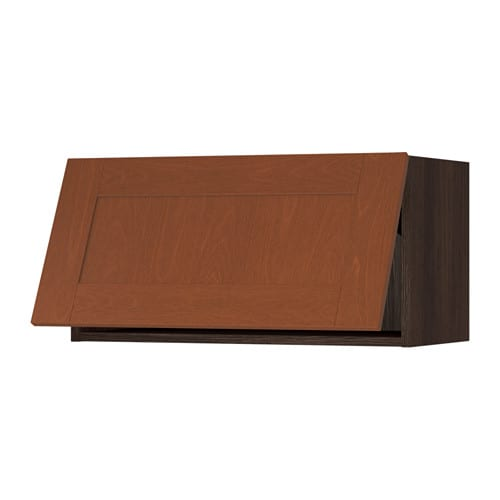 Sektion Wall Cabinet Horizontal Wood Effect Brown Grimsl V Medium Brown 30x15x15 Ikea