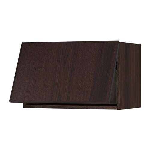 Sektion wall cabinet horizontal wood effect brown ekestad brown 24x15x15 - Caisson mural de rangement ikea ...