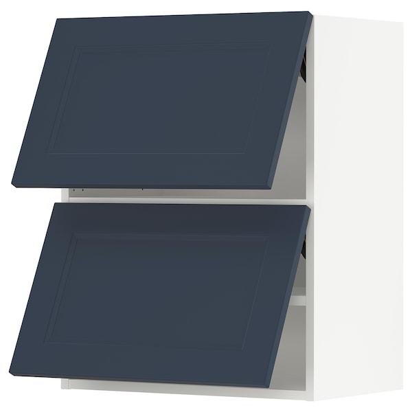 "SEKTION Wall cabinet horizontal w 2 doors, white Axstad/matte blue, 24x15x30 """