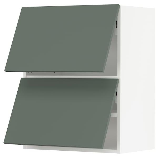 "SEKTION Wall cabinet horizontal w 2 doors, white/Bodarp gray-green, 24x15x30 """