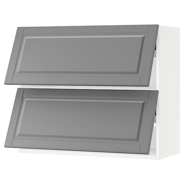 "SEKTION Wall cabinet horizontal w 2 doors, white/Bodbyn gray, 36x15x30 """