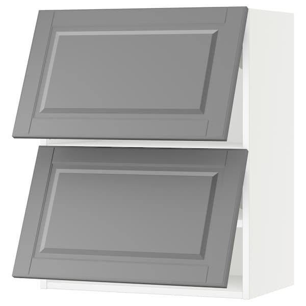 "SEKTION Wall cabinet horizontal w 2 doors, white/Bodbyn gray, 24x15x30 """