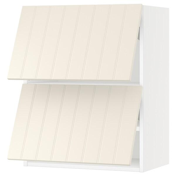 "SEKTION Wall cabinet horizontal w 2 doors, white/Hittarp off-white, 24x15x30 """