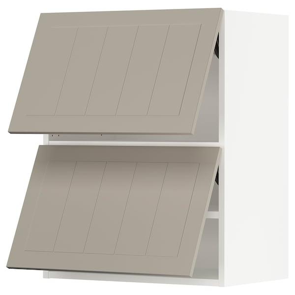 """SEKTION Wall cabinet horizontal w 2 doors, white/Stensund beige, 24x15x30 """""""