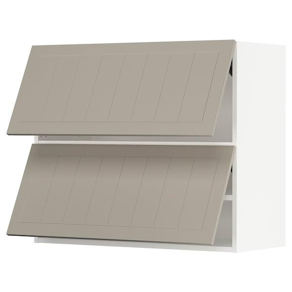 """SEKTION Wall cabinet horizontal w 2 doors, white/Stensund beige, 36x15x30 """""""