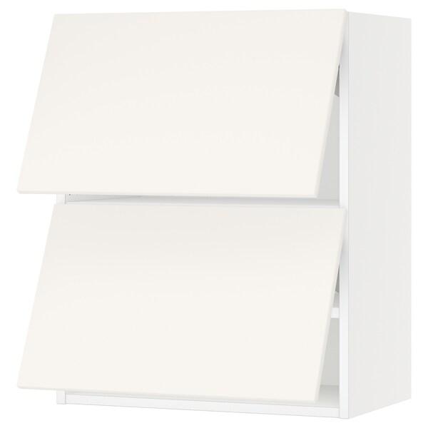 "SEKTION Wall cabinet horizontal w 2 doors, white/Veddinge white, 24x15x30 """