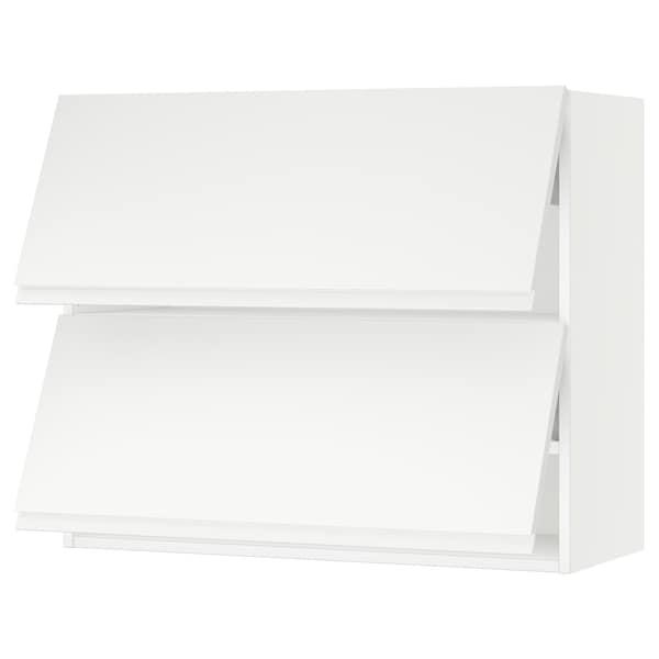 "SEKTION Wall cabinet horizontal w 2 doors, white/Voxtorp matt white, 36x15x30 """