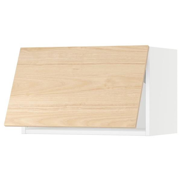 "SEKTION Wall cabinet horizontal w/ push-op, white/Askersund light ash effect, 24x15x15 """