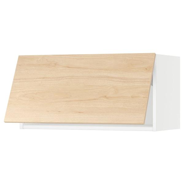 "SEKTION Wall cabinet horizontal w/ push-op, white/Askersund light ash effect, 30x15x15 """