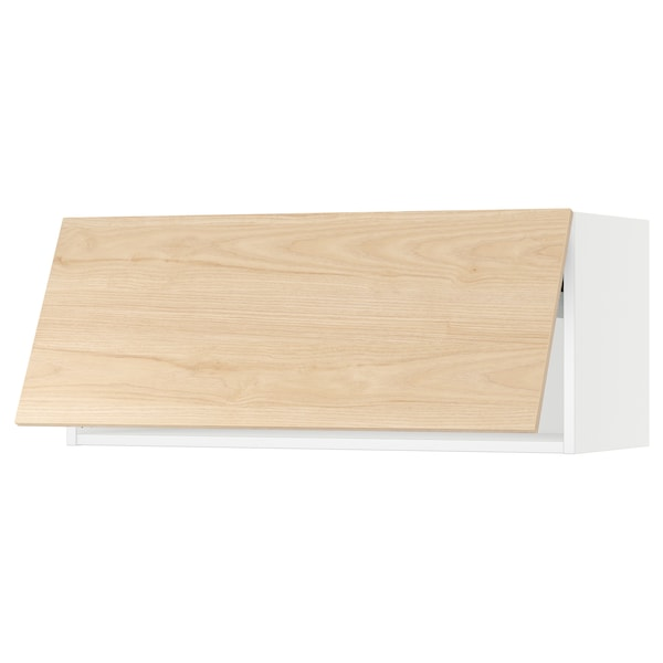 "SEKTION Wall cabinet horizontal w/ push-op, white/Askersund light ash effect, 36x15x15 """