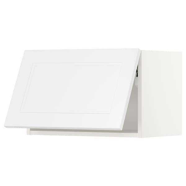 "SEKTION Wall cabinet horizontal w/ push-op, white/Axstad matt white, 24x15x15 """