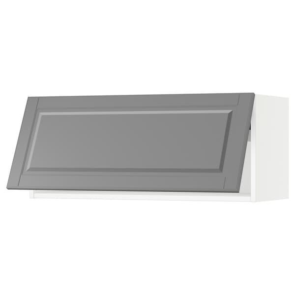"SEKTION Wall cabinet horizontal w/ push-op, white/Bodbyn gray, 36x15x15 """