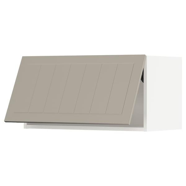 """SEKTION Wall cabinet horizontal w/ push-op, white/Stensund beige, 30x15x15 """""""
