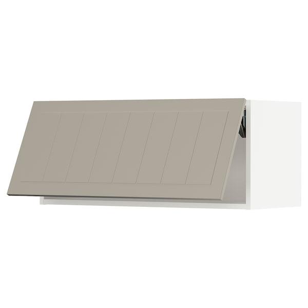 """SEKTION Wall cabinet horizontal w/ push-op, white/Stensund beige, 36x15x15 """""""