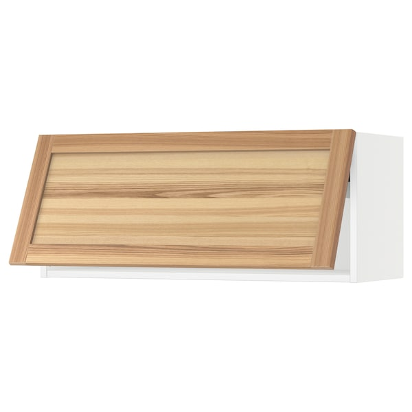 "SEKTION Wall cabinet horizontal w/ push-op, white/Torhamn ash, 36x15x15 """