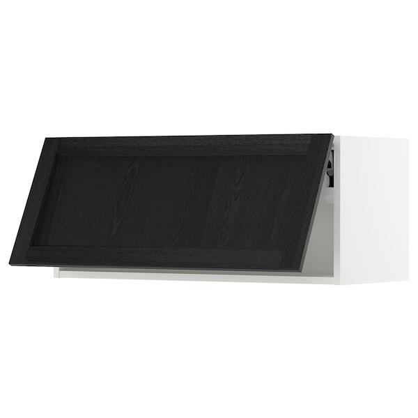 "SEKTION Wall cabinet horizontal, white/Lerhyttan black stained, 36x15x15 """