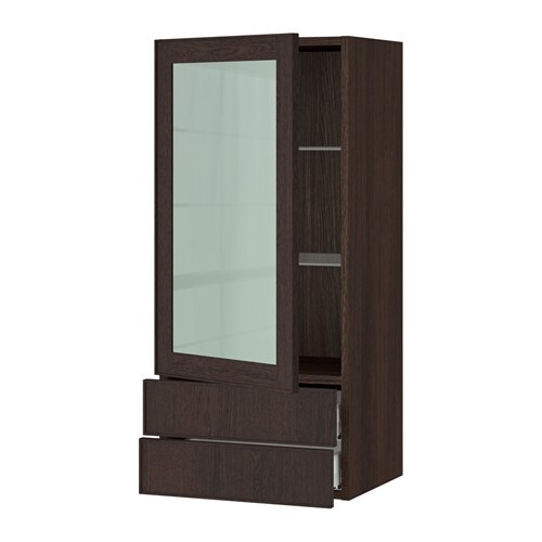 Sektion Wall Cabinet W Glass Door Drawers