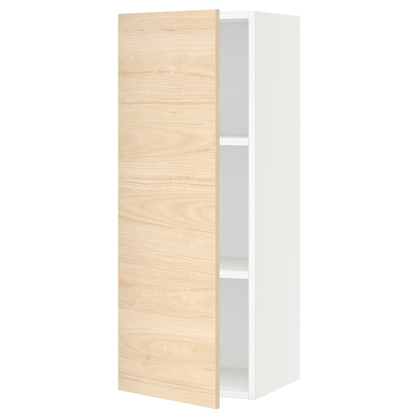 SEKTION Wall cabinet, white/Askersund light ash effect, 15x15x40 ""