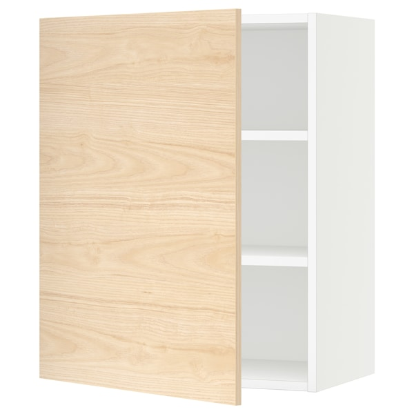 SEKTION Wall cabinet, white/Askersund light ash effect, 24x15x30 ""