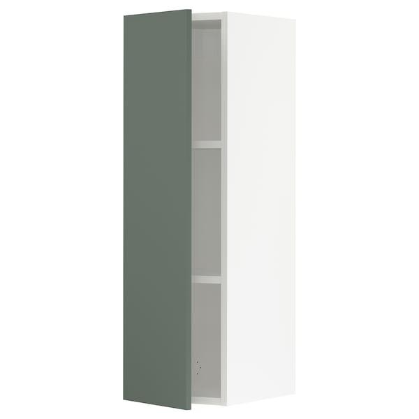 "SEKTION Wall cabinet, white/Bodarp gray-green, 12x15x40 """