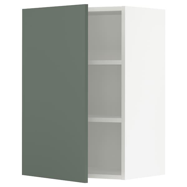 "SEKTION Wall cabinet, white/Bodarp gray-green, 21x15x30 """