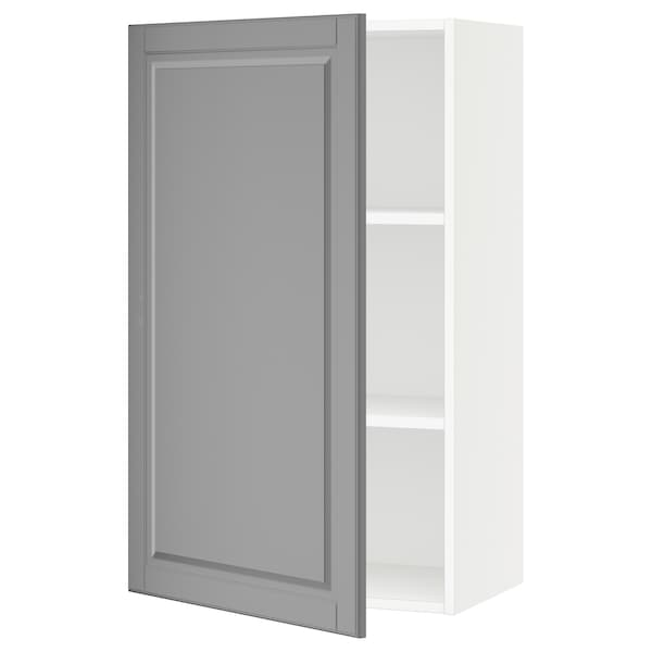 "SEKTION Wall cabinet, white/Bodbyn gray, 24x15x40 """