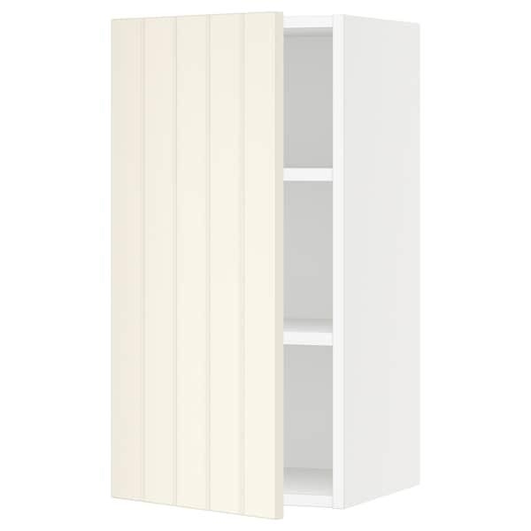 "SEKTION Wall cabinet, white/Hittarp off-white, 15x15x30 """
