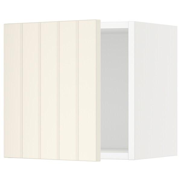 "SEKTION Wall cabinet, white/Hittarp off-white, 15x15x15 """