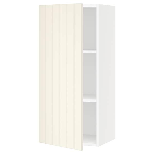 "SEKTION Wall cabinet, white/Hittarp off-white, 18x15x40 """