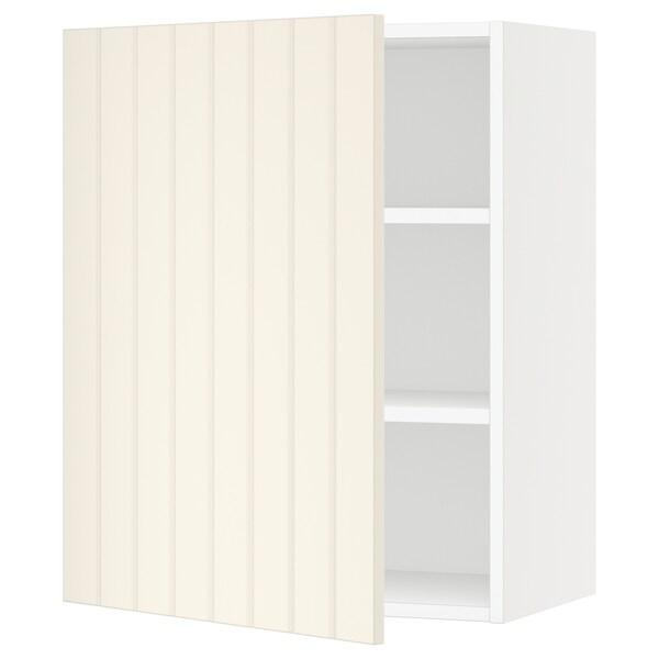 "SEKTION Wall cabinet, white/Hittarp off-white, 24x15x30 """