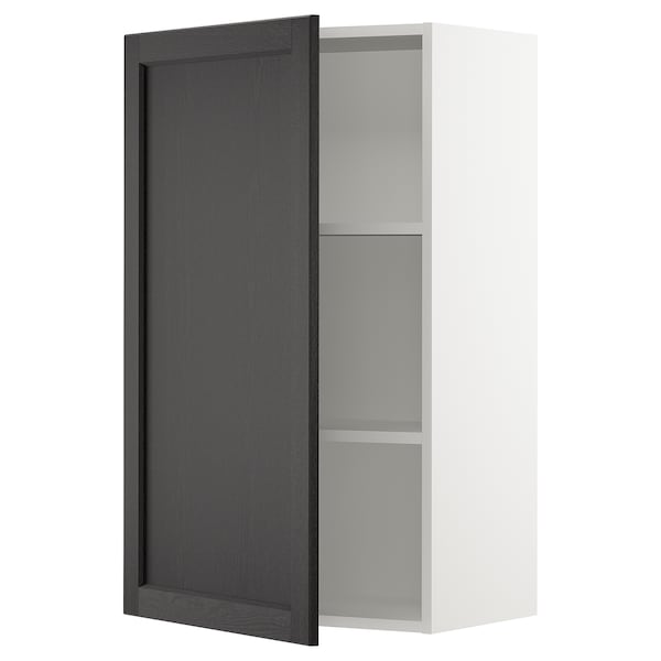 SEKTION Wall cabinet, white/Lerhyttan black stained, 24x15x40 ""