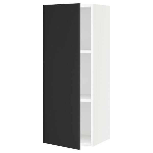 "SEKTION Wall cabinet, white/Uddevalla anthracite, 15x15x40 """