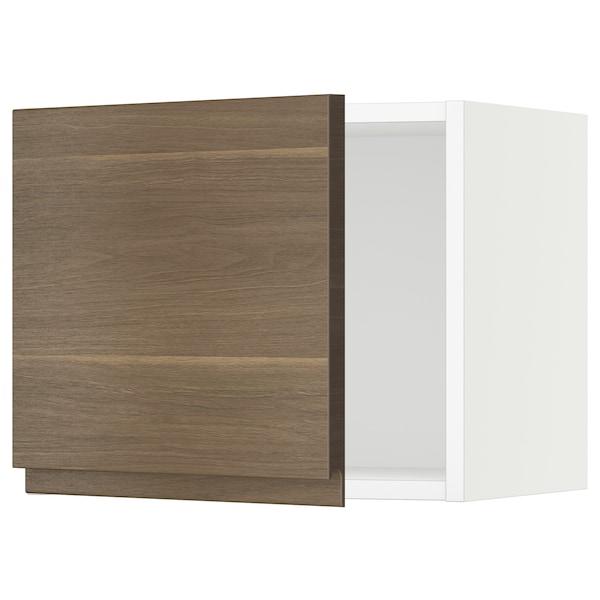 "SEKTION Wall cabinet, white/Voxtorp walnut effect, 18x15x15 """