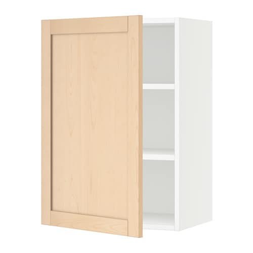 Sektion wall cabinet white bj rket birch 21x15x30 ikea for Ikea sektion kitchen cabinets