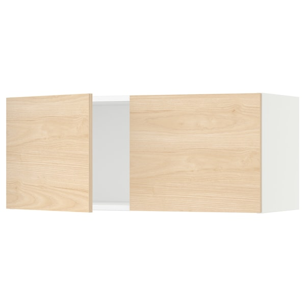 """SEKTION Wall cabinet with 2 doors, white/Askersund light ash effect, 36x15x15 """""""